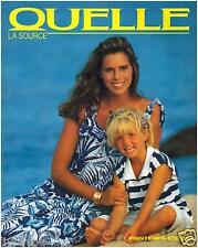 ▬► Catalogue QUELLE Printemps-Eté 1988  Mode  Fashion TTBE