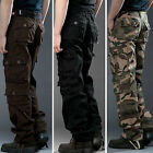 Men Casual Military Army Cargo Camo Combat Work Pants Tactical Trousers Overalls