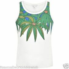 girls white Palm Leaves VEST / TUNIC TOP by LITTLE MARC JACOBS 4Y BNWT