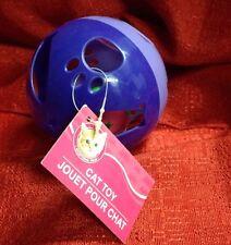"""PET CAT KITTEN TOY 4"""" Diameter BALL Smaller Ball W/ BELL Inside Play Fun Sound"""