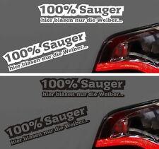 Aufkleber Autoaufkleber 100% Sauger blasen nur die Weiber Sticker DECAL Vergaser