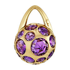 $4900 POMELLATO HAREM 18K YELLOW GOLD AMETHYST PENDANT FOR NECKLACE CHARM