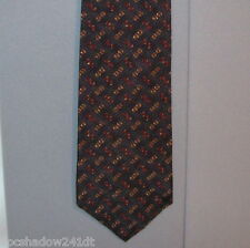 Calvin Klein Green Tweed-Like Geometric Print Silk Neck Tie #361