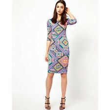 AWear Multi Print Sophia Dress Size 8 rrp £32.50 Box3012 J