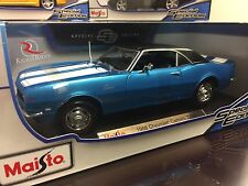 Maisto 1:18 Scale Diecast Model - 1968 Chevrolet Camaro Z/28 (Blue)