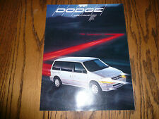 1991 Dodge Spirit Caravan Monaco Dynasty Shadow Colt Sales Brochure