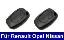 2x Ersatz Schlüssel Gehäuse für Renault Kangoo Clio Nissan Interstar Opel