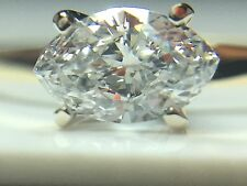 Stunning .50CT VS1 Solitaire Marquise Diamond Engagement Estate 14k Yg Ring