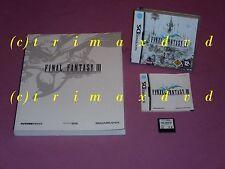 Nintendo DS _ Final Fantasy III (3) & Offizielles Lösungsbuch _ TOP-Zustand