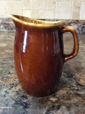 Vintage HULL POTTERY BROWN DRIP Creamer~Oven Proof~Made In USA