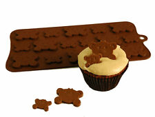 Peekaboo Teddy Button Chocolate Candy Silicone Bakeware Mould Cake Decorating
