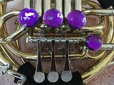 DOUBLE FRENCH HORN PURPLE AMETHYST DECORATOR ROTOR CAPS/TONE BOOSTERS, 4 PC. SET