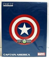 "In STOCK Mezco One 12 Collection ""Captain America"" Marvel 1/12 Action Figure"
