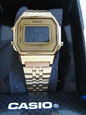 CASIO COLLECTION WATCH LA680WEGA-9BER CLASSIC ALARM CHRONOGRAPH GOLD BNIB
