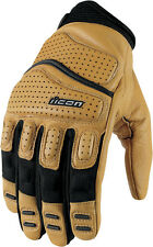 ICON Super Duty 2 Perforated Short Gauntlet Motorcycle Gloves (Tan) XL (X-Large)