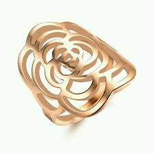 #9044 Hollow Carved Rose Ring Engagement Ring