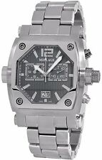 MILLAGE ROGUE COLLECTION ML-135020B26 SWISS QUARTZ GRAY FACE CHRONOGR DATE WATCH