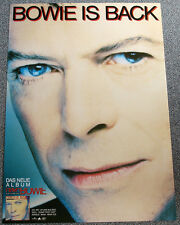 Poster Plakat - David Bowie : Bowie is back - Format: Din A1