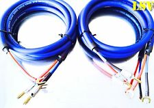 NEW Van Damme Blue Series Studio 2x4mm Twin Axial Speaker Cable 2x2m -Terminated