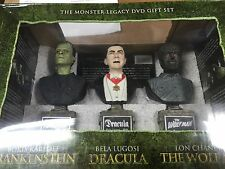 Universal Monster Legacy 6-DVD Gift Set Busts SEALED Frankenstein Dracula
