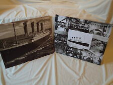 Set Of 2 Titanic Ship Canvas at sea Large in Black & Whites Design