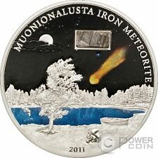 METEORITE MUONIONALUSTA Silver Coin 5$ Cook Islands 2011