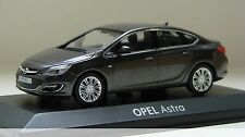 OPEL ASTRA ANTHRACITE 2012 SEDAN SALOON MINICHAMPS 1/43 BLACK NOIRE BERLINE