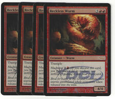 Magic the Gathering 100 Reckless Wurm Gateway Promo Foil Playset (4)
