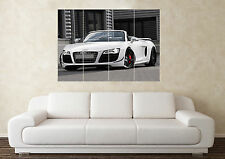 Large Audi R8 Spyder Supercar Sport Car Wall Poster Art Picture Print