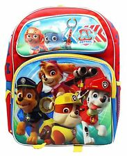 "Nickelodeon Paw Patrol Large 16"" inches Backpack BRAND NEW Licensed Product"