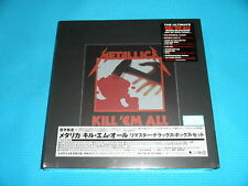 METALLICA 5CD+3LP+EP+DVD+Hardback+JP Booklet BOX Kill 'Em All w/Badge Japan NEW