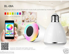 New 6W E27/B22 5050 Bluetooth 4.0 Stereo Speaker Smart LED Bulb For Smartphone
