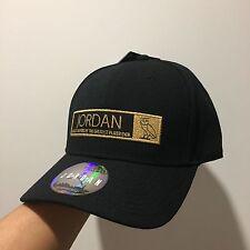 JORDAN X OVO 12 STRAPBACK BASEBALL CAP BLACK GOLD OWL DRAKE