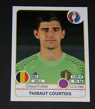 465 T. COURTOIS BELGIQUE BELGIË DIABLES ROUGES PANINI FOOTBALL UEFA EURO 2016