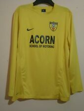 MYNYDD ISA YOUTH FOOTBALL CLUB MATCH WORN L/S SHIRT # 18 NIKE SIZE L LARGE VGC