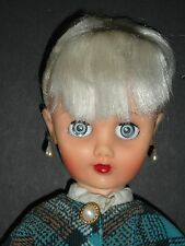 VINTAGE 19-INCH VINYL ADULT TEEN DOLL JOINTED CLOTHED SLEEP EYES MARKED 14R **