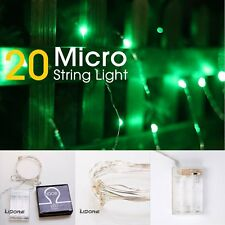 LIDORE Micro LED 20 Green String Lights with Timer by LIDORE (Color: Green)