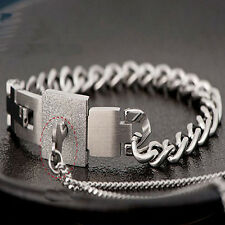 Couple Titanium  Steel Bangle  Bracelet and Key Pendant Necklace Sets Fashion