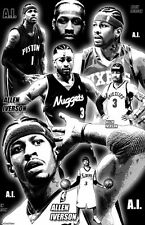 "ALLEN IVERSON  11x17  ""Black Light"" Poster"
