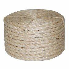 "3/8"" Dia. x 100' Twisted Sisal Rope, 100 % Natural Fiber, Biodegradable, #AA381S"