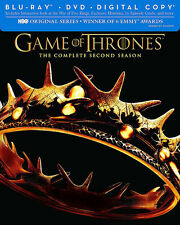 Game of Thrones: Complete Second Season (Blu-Ray/DVD 7 Disc Set 2013) - VG