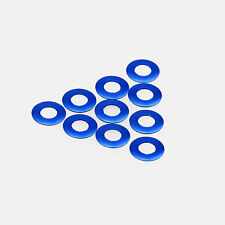 10PC 3mm x 6mm x 0.25mm Aluminum Alloy Blue Flat Washer/Spacer/Standoff