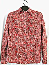 Pendleton womens blouse L Western snaps red black paisley stretch long sleeve