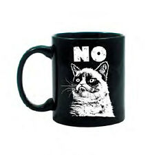 Grumpy Cat NO Meme Image Officially Licensed Ceramic Coffee Mug - Black