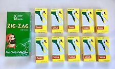 1250 X ZIG ZAG Green Regular Rolling Papers & 1200 X Swan Extra Slim Filter Tips