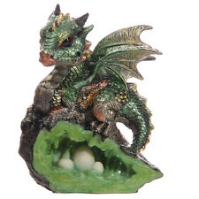 Green CRYSTAL CAVE BABY DRAGON Ornament Gothic Goth Vamp