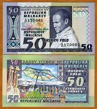 Madagascar, 50 francs, ND (1974-1975), P-62, UNC