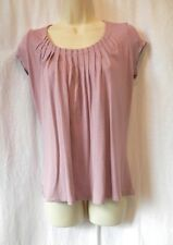 Size 8 M&S Autograph Lilac T-shirt Top Summer Holiday Work