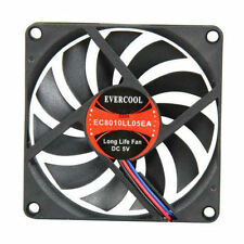 EverCool EC8010LL05E 80x10mm 5V Ball Bearing Fan, 3Pin
