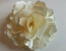 "Girls Women 3"" Satin Flower ...Flower Hair Clip, Brooch, corsage RICH CREAM"